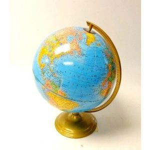 Vintage George Cram Co Imperial Replogle Globe 12""